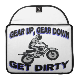 Gear Up Get Dirty Motocross MacBook Pro Sleeve