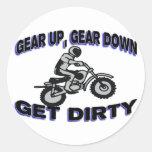 Gear Up Get Dirty Motocross Sticker