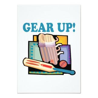 Gear Up 5x7 Paper Invitation Card