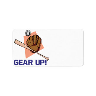 Gear Up Personalized Address Label
