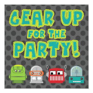 Gear Up Robot Invitation