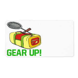 Gear Up Shipping Label