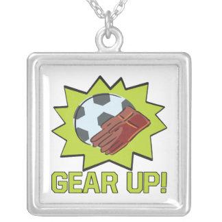 Gear Up Square Pendant Necklace