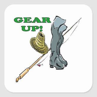 Gear Up Square Sticker