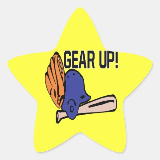 Gear Up Star Sticker