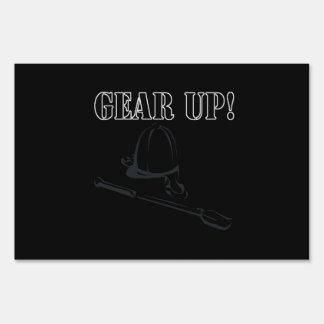 Gear Up Yard Sign