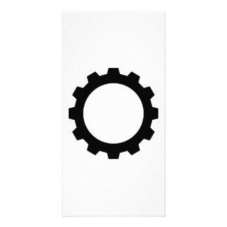 Gear wheel photo card