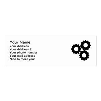 Gear wheels mini business card