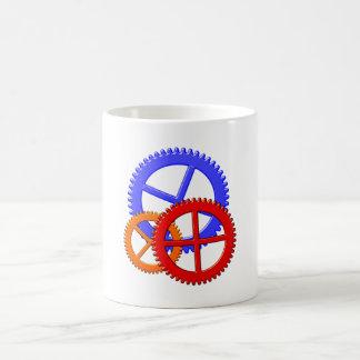 gear wheels pinion toothed wheel coffee mug