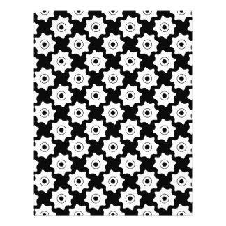 Gear wheels seamless pattern full color flyer