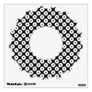 Gear wheels seamless pattern wall sticker