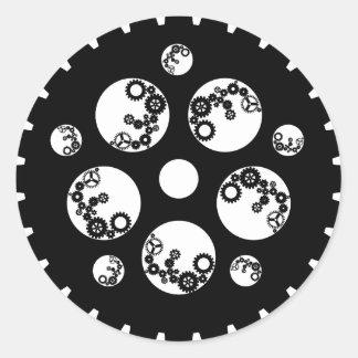 Gear Worx - All Black Classic Round Sticker