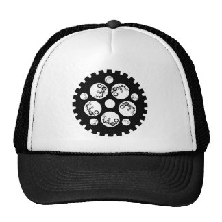 Gear Worx Black and White Mesh Hats
