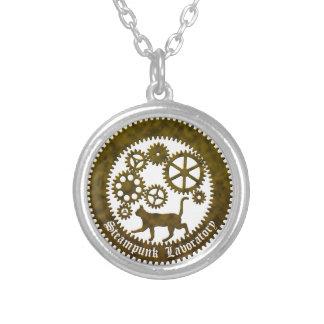 gearcat2 round pendant necklace