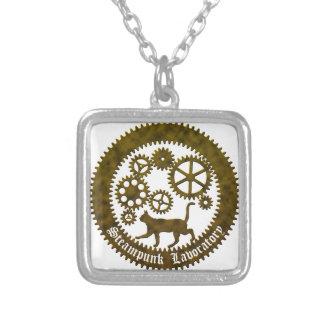 gearcat2 square pendant necklace