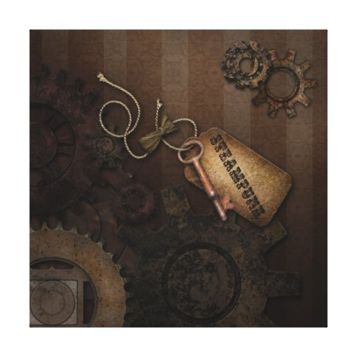 Geared For Steampunk Gallery Wrapped Canvas