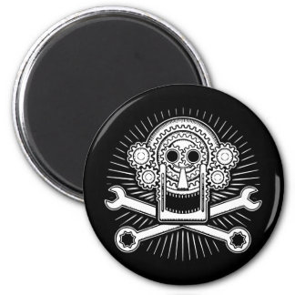 Gearhead -bw 2 inch round magnet