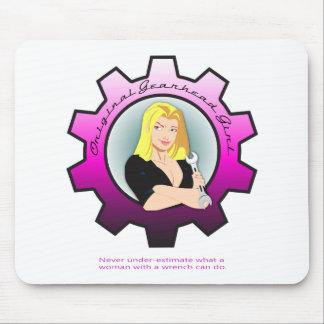 Gearhead Girl - Blonde hair Mouse Pad