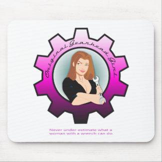 Gearhead Girl - Brunette Mouse Pad