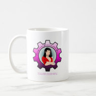 Gearhead Girl - Dark hair mug