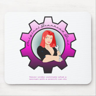 Gearhead Girl - Red hair Mouse Pad