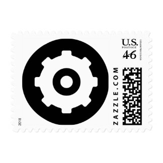 Gearhead Ideology Postage Stamp