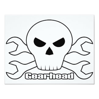 Gearhead Skull Card