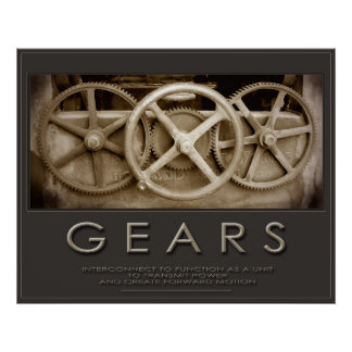 GEARS 24 x 30 Print + Other Sizes