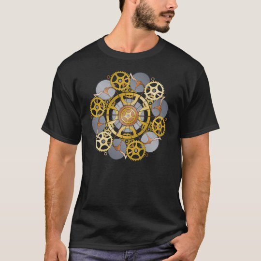Gears and Cogs Mandala Design T-Shirt