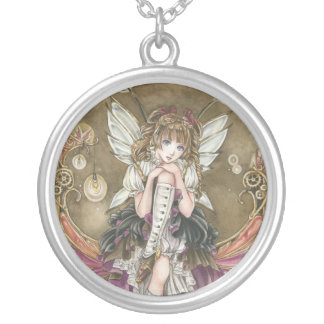 Gears and Glass steampunk fairy necklace
