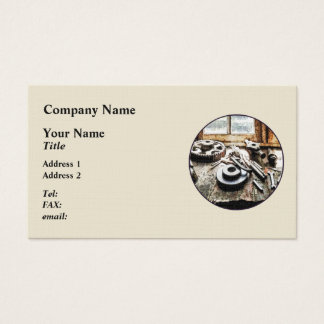 Gears and Wrenches in Machine Shop Business Card