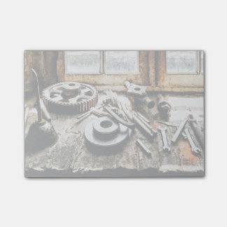 Gears and Wrenches in Machine Shop Post-it Notes