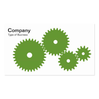 Gears - Avocado Green on White Business Card