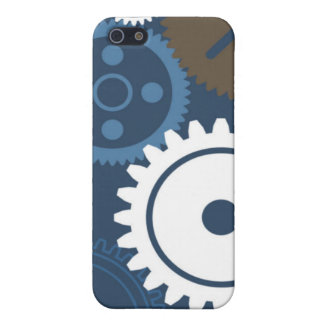 Gears Blue Case For iPhone SE/5/5s