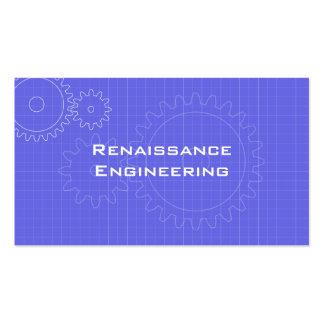 Gears Blueprint Business Card