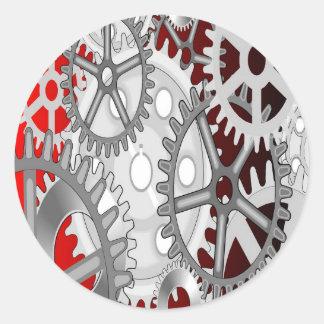 Gears Classic Round Sticker