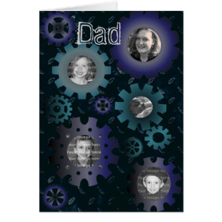 Gears & Cogs Photo Frame Father's Day Card