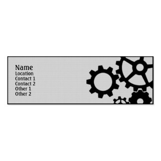 Gears Double-Sided Mini Business Cards (Pack Of 20)