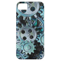 Gears Gray and Blue Metal iPhone SE/5/5s Case