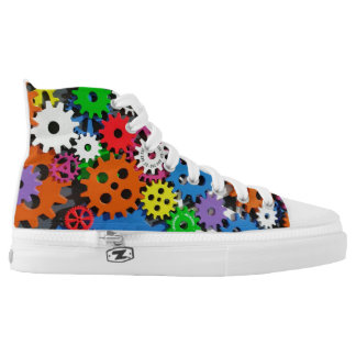 GEARS HIGH TOP CANVAS SHOES