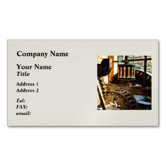 Gears in a Grist Mill Magnetic Business Card