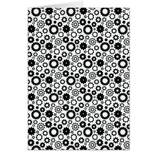 Gears in Black and White Greeting Card