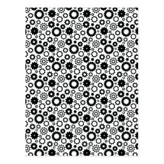 Gears in Black and White Postcard