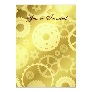 Gears in gold all occasion card