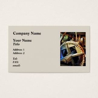 Gears in Grist Mill Business Card