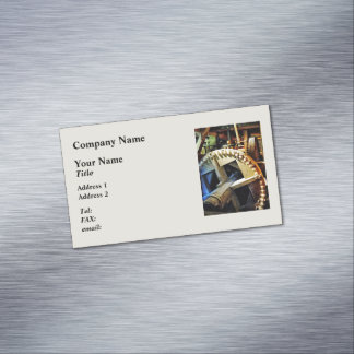 Gears in Grist Mill Business Card Magnet