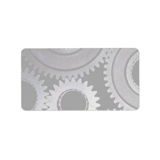 Gears Custom Address Label