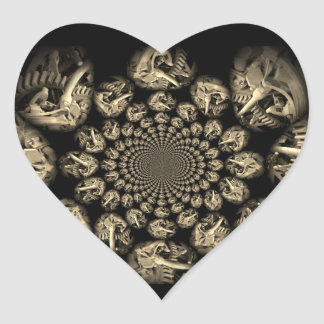 Gears Manipulated Heart Sticker