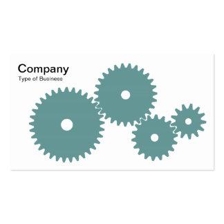 Gears - Ocean Green on White Business Card