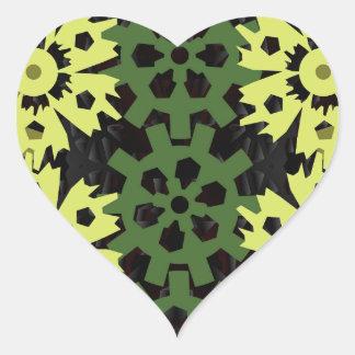 Gears Of Nature Heart Sticker